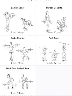 barbell circuit for exercising at home more  weight