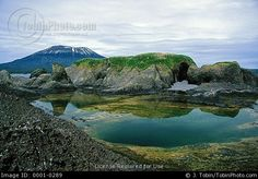 mt+edgecumbe+alaska | Mt. Edgecumbe volcano as seen from an island in Sitka Sound, which is ...