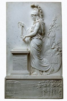 Jacques-Augustin Pajou (Jacques Augustin Pajou) (1730-1809). Princess of Hesse­Homburg before the Altar of Immortality. Marble - 1759.
