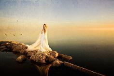 Salton sea wedding photo