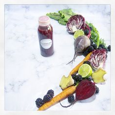 The rootalised. . Radicchio | beetroot | blackberry | carrot | lime | ginger. . £4.50. Beetroot, Juices, Blackberry, Carrots, Lime, Photo And Video, Instagram, Limes, Blackberries