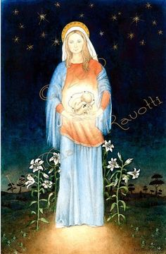 Baby Jesus In His Mother Mary Womb