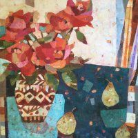 Sally Ann Fitter. Roses and Three Pears.