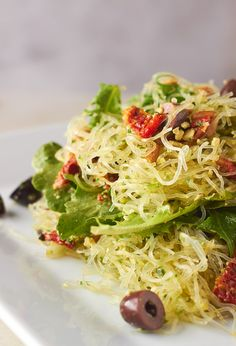 This Pesto Kelp Noodle Salad will keep you nourished and have you feeling full without that heavy feeling that you often get after eating.