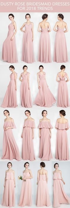 dusty rose bridesmaid dresses for 2018 trends
