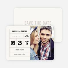 It's a Date Save the Dates from Paper Culture