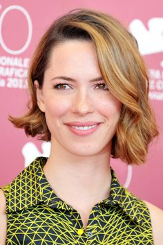 We've waxed poetic about Rebecca Hall's beyond-amazing asymmetrical bob before, but check out how great it looks styled into smooth, glamorous waves. If you worried that this trendy haircut wouldn't be versatile — well, Hall successfully shut that worry down. #refinery29 http://www.refinery29.com/bob-hairstyles#slide-6
