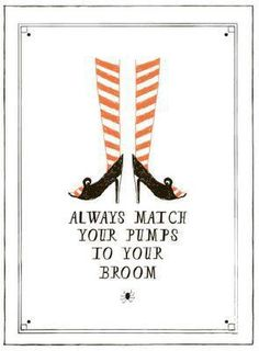 ..could do an innocent girly looking sign with Hallow'een message and hang it up in bathroom...!!!
