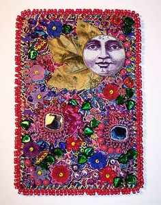 May flower moon, beaded journal project