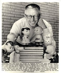 Charles M. Schulz and his Peanut's family: Snoopy,Charlie, & Sally Brown<>Lucy, Linus & Re:Run VanPelt also Pig`Pen with Schroeder here Together on October Peanuts Cartoon, Peanuts Snoopy, Charlie Brown Und Snoopy, Charles Shultz, Peanuts By Schulz, Snoopy And Woodstock, Comic Strips, My Childhood, Cartoon Characters