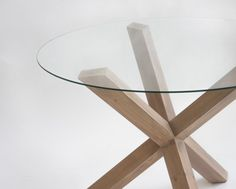 Pata de madera no envejecida con tono nogal blanqueado Coffee, Table, Furniture, Home Decor, Dining Room Furniture, Wood Tables, Hue, Crystals, Houses