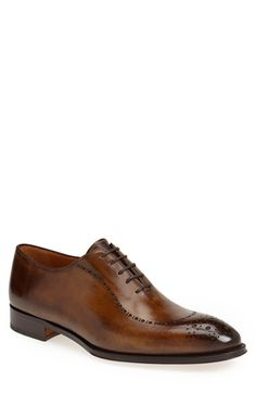 Gallo Bianco Wholecut Medallion Toe Oxford (Men) available at #Nordstrom