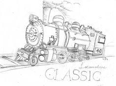 "62 Likes, 2 Comments - Farin Wahyu Rachman (@farinyura) on Instagram: ""classic ~ locomotive ~ sketch . hal yang lama memberi pelajaran pada hal baru untuk menjadi lebih…"""