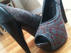 My Donald J Pliner's Moroccan-inspired glass beaded pumps