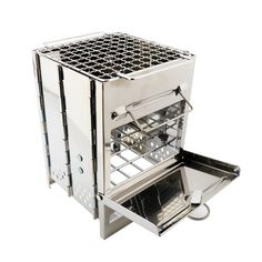 """Outdoor Mini Kocher """"BBQ"""" Camping Grill, Camping Wood Stove, Barbecue Camping, Portable Barbecue, Barbecue Grill, Mini Grill, Outdoor Grill, Outdoor Camping, Camping Equipment"""
