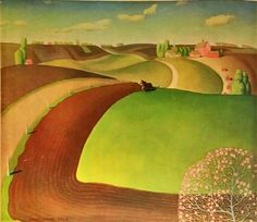 Excited to share the latest addition to my #etsy shop: Grant Wood Spring Landscape 1932 Original Lithograph #art #lithograph #vintageprint #landscape #grantwood http://etsy.me/2C1hCDa