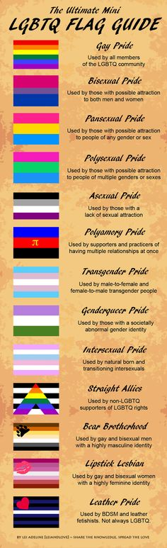 Ultimate LGBTQ Flag Guide by LeiAndLove.deviantart.com on @deviantART