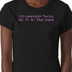 ultrasound techs do it in the dark.