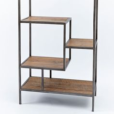 Reclaimed Pine + Iron Bookcase | west elm