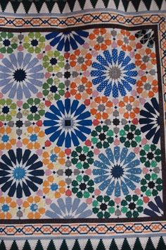 japanese quilt from quilt show. looks just like moroccan tile i love - this is so intricate and beautiful