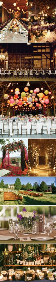 Like the church pews for seating outdoors, benches would be great too. rustic wedding decor inspiration