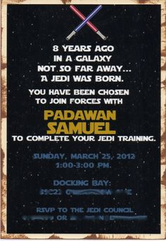 ABC: Star Wars Birthday Invitation