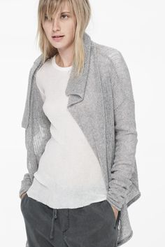 James Perse Cashmere - I have a sweater with this neckline that I quite like.