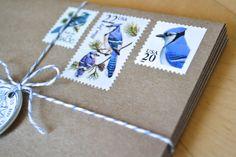 Blue Jay Postage Stationery, Pre-Stamped Blue Bird Card Set