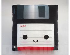 """Old School, Floppy Disk, Vintage Computer Hard Disk, Toy Pillow, Memory Disk, 80's, Student College Dorm Decor, Office Decor, Geek, 7 x7"""""""