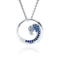 CBStark Jewelers - Sapphire Wave Medium pendant in sterling silver, $335.00 (http://www.cbstark.com/salecat/sapphire-wave-medium-pendant-in-sterling-silver/)
