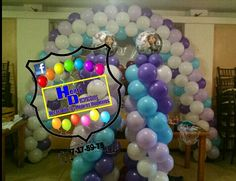 Decoración con globos frozzen