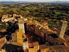 San Gimignano and medieval towers #medieval #tuscany #sangimignano