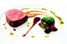 Angus Beef Tenderloin 'Façon Niçoise' that is beef tenderloin with spanish onion purée and potato.
