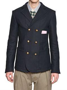 ANDREA POMPILIO - CASHMERE FELT DOUBLE BREASTED JACKET   Andrea #Pompilio  #Menswear #men's #fashion #menswear #FW 12/13 #fall #winter #man #outfit