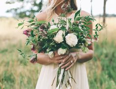Love this for bride Bouquets Inspiration too! All loose ties no full blown steam ribbon wrapping. Hope that makes sense?! haha