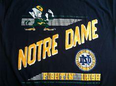 Vintage NORTE DAME Tshirt/ Fighting IRISH 80s by sweetVTGtshirt, $35.00