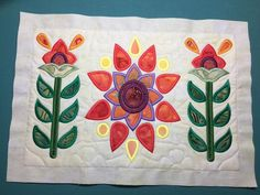 nice flower embroidery