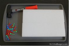 Invitations to Play: Hammering with Tees and Styrofoam
