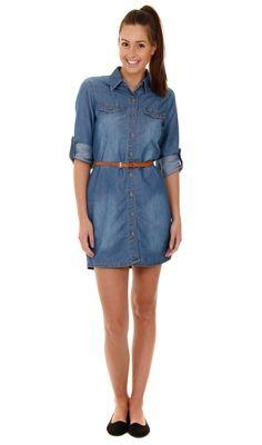 0e5710cf2b4 Long Sleeve Denim Shirt Dress  DenimDresses.Denim Fshion Denim Dungaree  Shorts