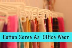 Must-Try Cotton Sarees Varieties for Office Wears ! Best collection of cotton sarees. Cotton Saree, Office Wear, Mantra, Sarees, House Styles, Fabric, How To Wear, Fashion Tips, Collection