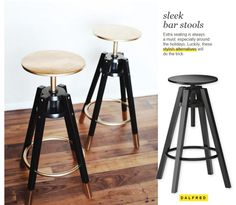 Ikea Hack - Spray paint these stools to create a two-toned effect.