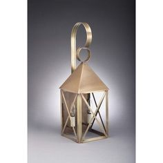 Northeast Lantern York 1 Light Outdoor Wall Lantern Finish: Antique Copper, Shade Type: Clear