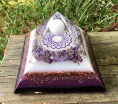 Orgonite® orgone  Pyramid  Crown Chakra  Violet Flame