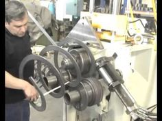 Roundo R-4 Spiral Rolling Flat Bar On Edge With Pitch - YouTube