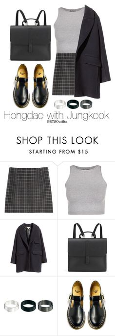 """Hongdae with Jungkook"" by btsoutfits ❤ liked on Polyvore featuring Free People, H&M, Danielle Foster, ASOS and Dr. Martens"