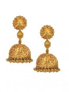 Floral Jaal Temple Jhumka Earrings
