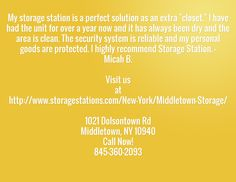 #SelfStorage #Middletown NY 1021 Dolsontown Rd Middletown, NY 10940 Call Now! 845-360-2093