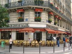 Beautiful French cafe.