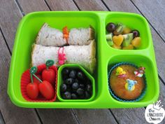 Goodbyn bento box, wrap bands, silicone cups and food picks all available in New Zealand from www.thelunchboxqueen.co.nz. Lunchbox Inspiration – The Lunchbox Queen