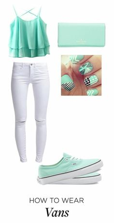 A fashion look from June 2015 featuring ONLY jeans, Vans sneakers and Kate Spade wallets. Browse and shop related looks. Teenage Girl Outfits, Cute Comfy Outfits, Girls Fashion Clothes, Cute Outfits For Kids, Cute Girl Outfits, Teen Fashion Outfits, Swag Outfits, Mode Outfits, Girly Outfits